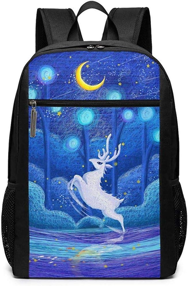 Mochila Escola,Cuento De Hadas Anime Deer Moon School Hombros ...