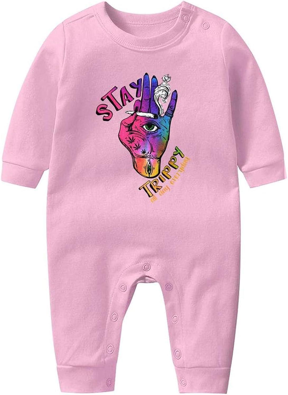 AKDJDS Eat Pizza Hail Satan Funny Baby Boys Girls Long Sleeve Baby Onesie Organic Babys Creeper