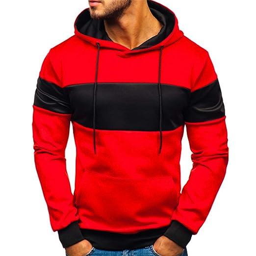 6e181ed4b8856 FRCOLT Men's Stranger Things Print Long Sleeve Sweatshirt Workout Hoodies  with Pocket