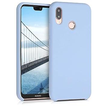 kwmobile Funda para Huawei P20 Lite - Carcasa de TPU para teléfono móvil - Cover Trasero en Azul Claro Mate