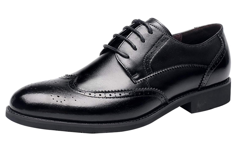 Herren Broke schuhe Business Freizeitschuhe Formale Kleid Schuhe Lace (Farbe   Schwarz, Größe   39EU)