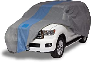 """Duck Covers Defender SUV Cover for SUVs/Pickup Trucks with Shell or Bed Cap up to 17' 5"""""""