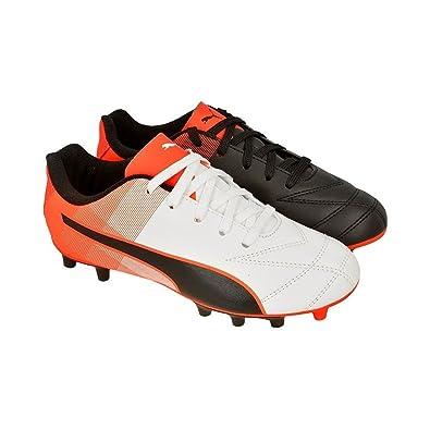 Puma Boy s Black White-Red Blast Football Shoes-3 UK India (35.5 EU ... 25428302d