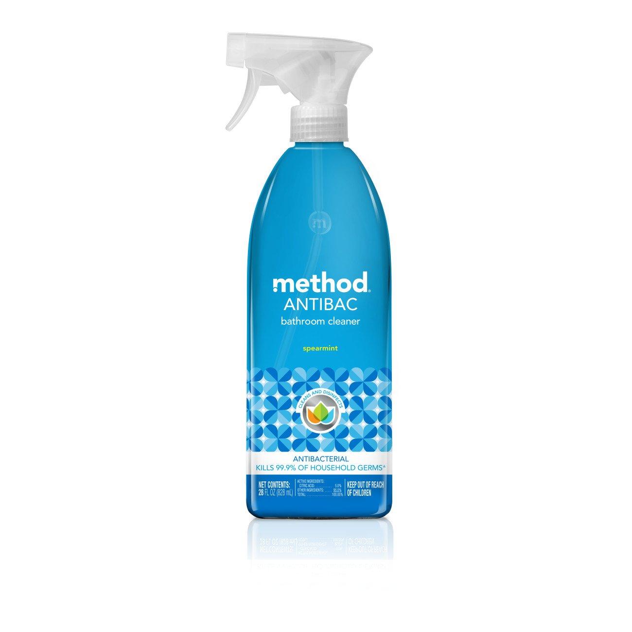 Amazoncom Method Antibacterial Bathroom Cleaner Spearmint - Bathroom cleanser