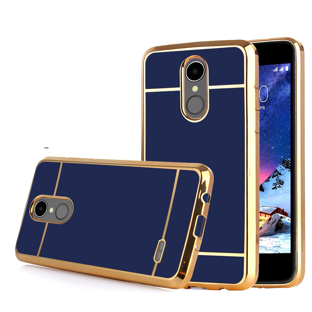 online store 973f5 2697d TabPow LG Stylo 3 Case Electroplate Slim Glossy Finish, Drop Protection,  Shiny Luxury Case For LG Stylo 3/ LG Stylo 3 Plus - Royal Blue Gold