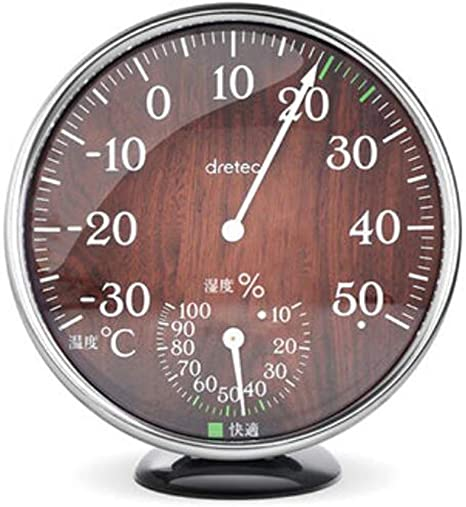 Higrometro Digital Termometro Higrometro Digital Relojes Jardin Hogar Termómetro Temperatura Y Medidor De Humedad Hogar De Alta Precisión Madera Vintage Color Higrómetro Mecánico: Amazon.es: Bebé