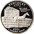 2001 S Statehood Quarters (Proof) Kentucky Silver Quarter PR69 NGC DCAM