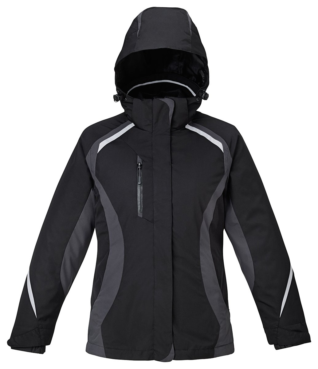 North End Height Ladies 3-In-1 Insulated Liner Jacket, Black, X-Large by Ash City - North End