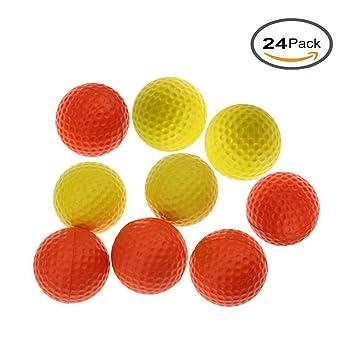 Kofull - Pelotas de golf de espuma de poliuretano para practicar deportes al aire libre, para entrenamiento, pelotas suaves, mixed 24pcs: Amazon.es: ...