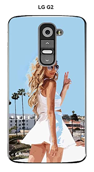 Onozo Carcasa LG G2 diseño mujer sexy Bye Bye: Amazon.es ...