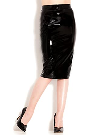 5978497bd119d Honour Women s classic pencil skirt Old Hollywood style in PVC at ...