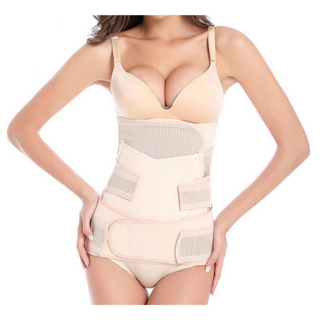 3 en 1 Fajas Postparto Para Despues Del Parto Recuperación vientre/cintura/pelvis cinturón transpirable y cómodo para mujer y Maternidad