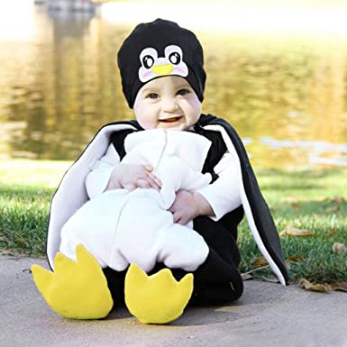 Baby Sleepsuit Soft Velour Penguin All In One Romper Newborn to 6 Months