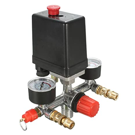 Regulador de válvula de control de presión de compresor de aire RUNGAO con amortiguador de calibres