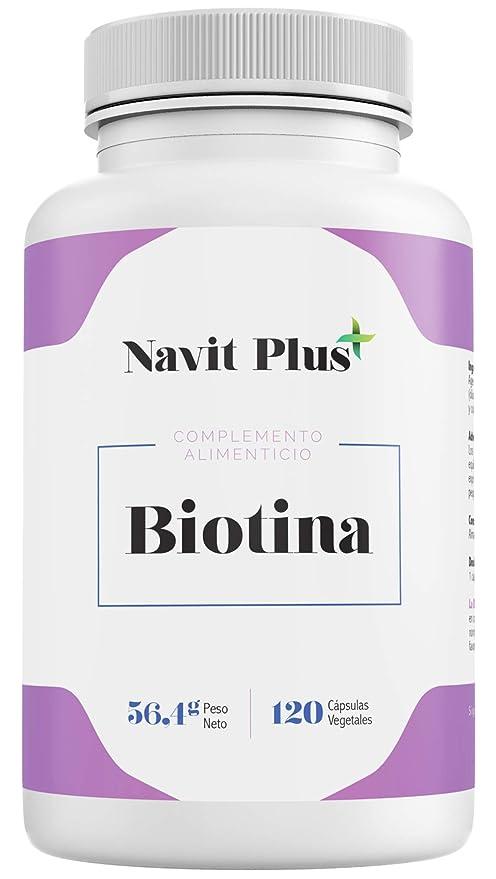 Biotina 10000mcg. Vitaminas de Biotina pura para fortalecer y evitar la caída del cabello. Ingredientes de máxima calidad para tener una piel, pelo y ...