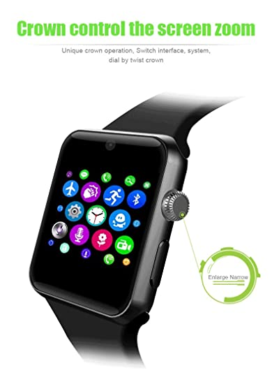 LENCISE New Smart Watch Business Bluetooth Smartwatch Fitness Tracker HD Screen Wearable Devices with Pedometer Sleep Monitor: Amazon.es: Electrónica