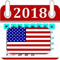 Calendar 2018 United States Holidays