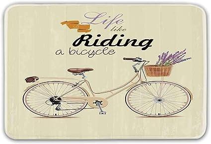 Estera de la puerta antideslizante de la bicicleta, Boho Pop Art ...