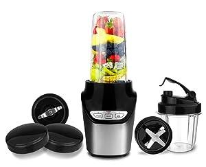 1000 Watts Nutri Power Blender Mixer High-Speed Food Extractor Juicer Smoothies Maker 8 Piece Set Food Fruit Processor