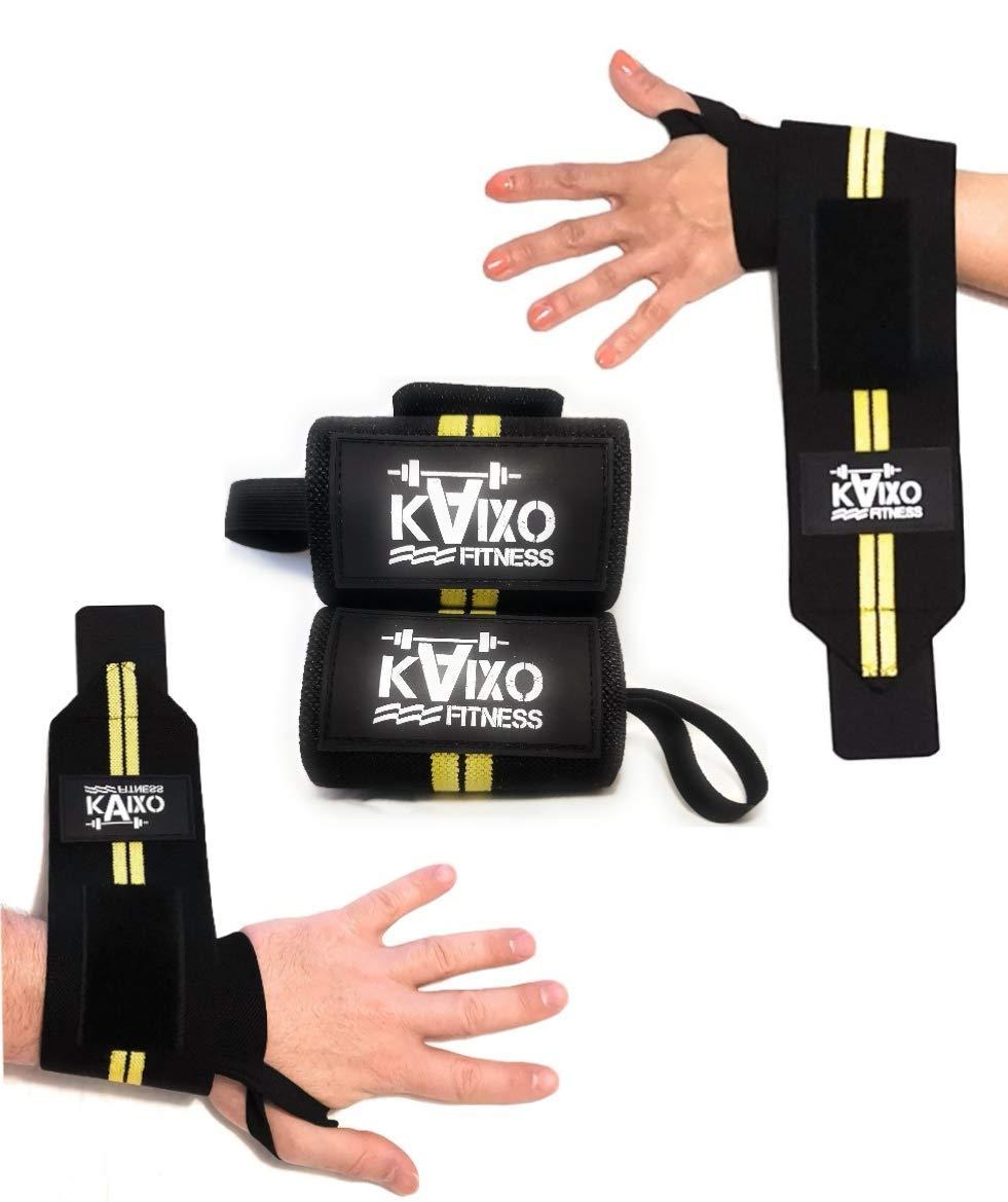 KAIXO Fitness Prot/ège-Poignets//Bandes de Support Poignet Gym Salle de Sport//Poids et halt/érophilie Crossfit Bodybuilding//Wrist Wraps//Homme Femme//Prot/ège Contre blessures et tendinites