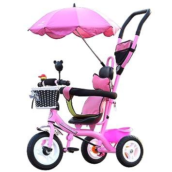 Buggy Kid Trolley Stroller Baby Toddler Pram Pushchair Large Basket Safety Steel