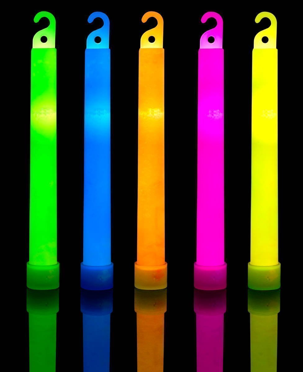 30 Ultra Bright Glow Sticks Plus 30 Party Strings - Total 60 Pcs - Bulk Pack Industrial Grade - 6 Inch Waterproof Glow Stick - Glow Light With 12 Hour Duration - Mixed Colors - Bend, Shake To Activate by HSGUS (Image #6)