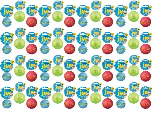 JW iSqueak Rubber Ball Large 48pk by JW