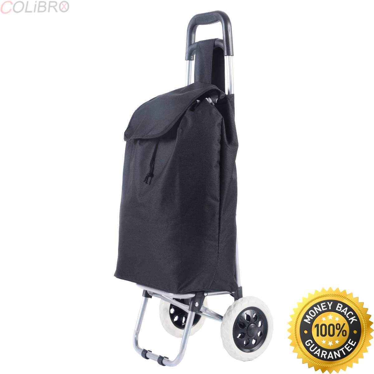 COLIBROX--Black Large Capacity Light Weight Wheeled Shopping Trolley Push Cart Bag New. best golf bag for push cart 2017. ogio cirrus stand bag. bag boy push cart.clicgear parts. golf clubs for sale. by COLIBROX