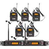 Top Quality!! Rocket Audio RW2080 In Ear Monitor System 2 Channel 5 Bodypack Monitoring with in earphone wireless SR2050 Type!