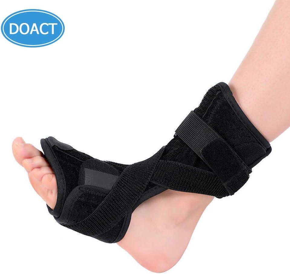 DOACT ® Fascitis plantares nocturnos Férulas ortopédicas ortopédicas para mujeres y hombres que duermen y descansan, se ajusta al pie izquierdo y derecho