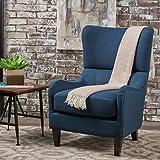 Quinn | Wingback Fabric Sofa Chair | in Navy Blue