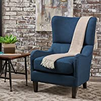 Quinn Navy Blue Fabric Sofa Chair (Navy Blue)