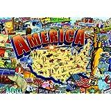 Buffalo Games 2000 piece: Vintage America - 2000 Piece Jigsaw Puzzle by Buffalo Games