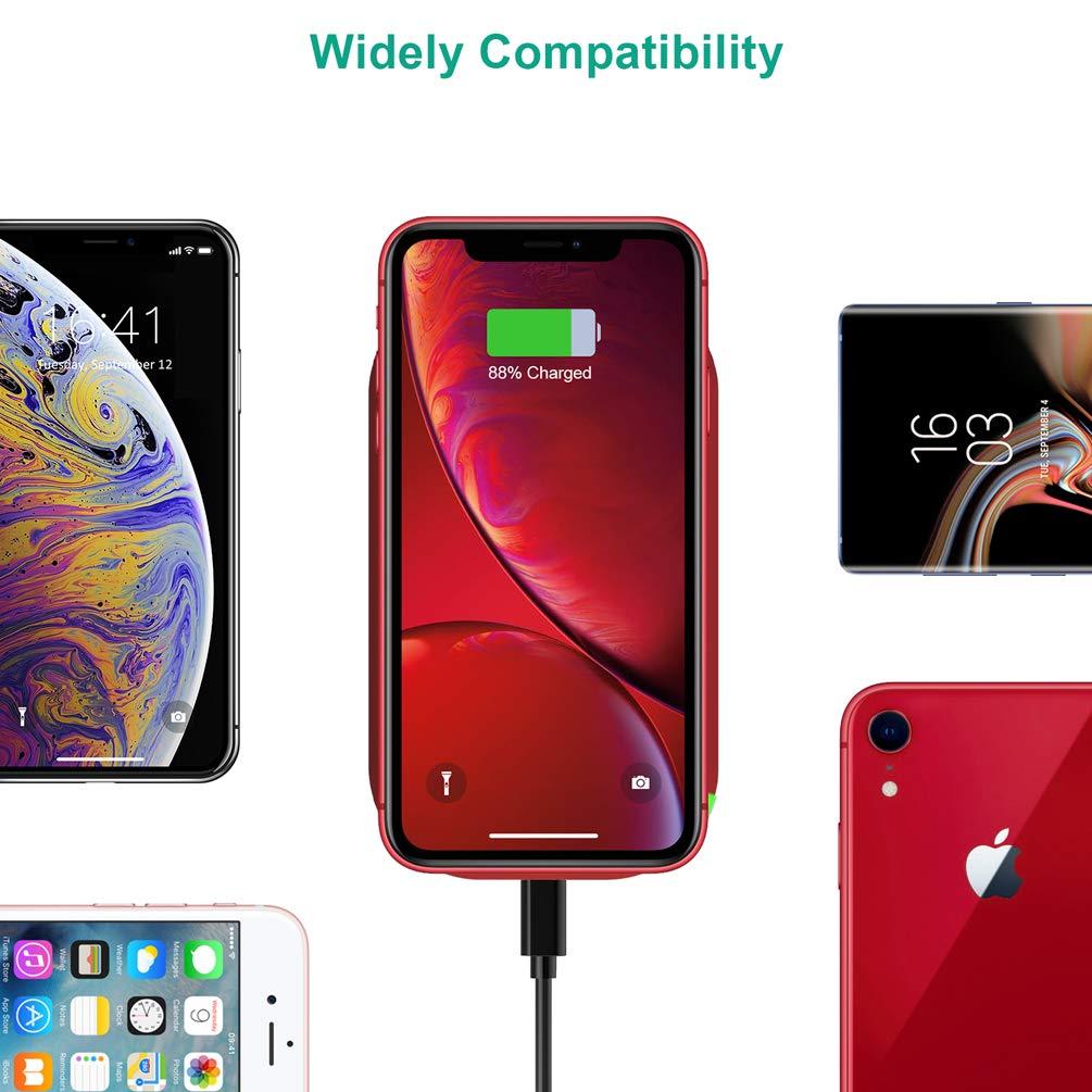 7.5 W para iPhone XS//XS MAX//XR//X//8 Plus//8 y 5W Tel/éfonos Qi-Enabled CHOETECH Cargador Inal/ámbrico R/ápido 3 Bobinas Qi Cargador Fast Wireless Charger 10W para Samsung S9+// S9// S8//Note8//S7 Edge//Note5