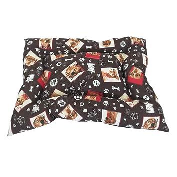 Cama para Perro y Gato Perritos con Gafas MARRÓN 55 * 40cm.: Amazon.es: Productos para mascotas