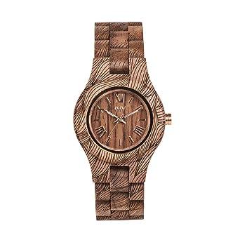 WEWOOD Reloj Analógico para Mujer de Cuarzo con Correa en Madera WW33006: Amazon.es: Relojes