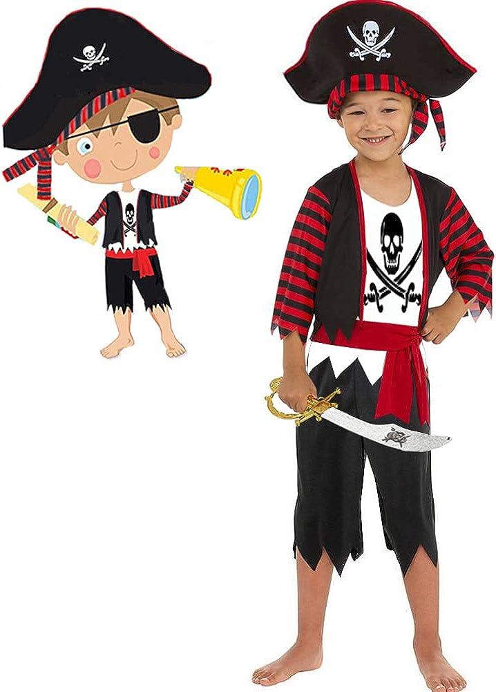 KIDS PIRATE BOY-L566 COST-UNI NEW FANCY DRESS COSTUME SIZE: S UK IMPORT