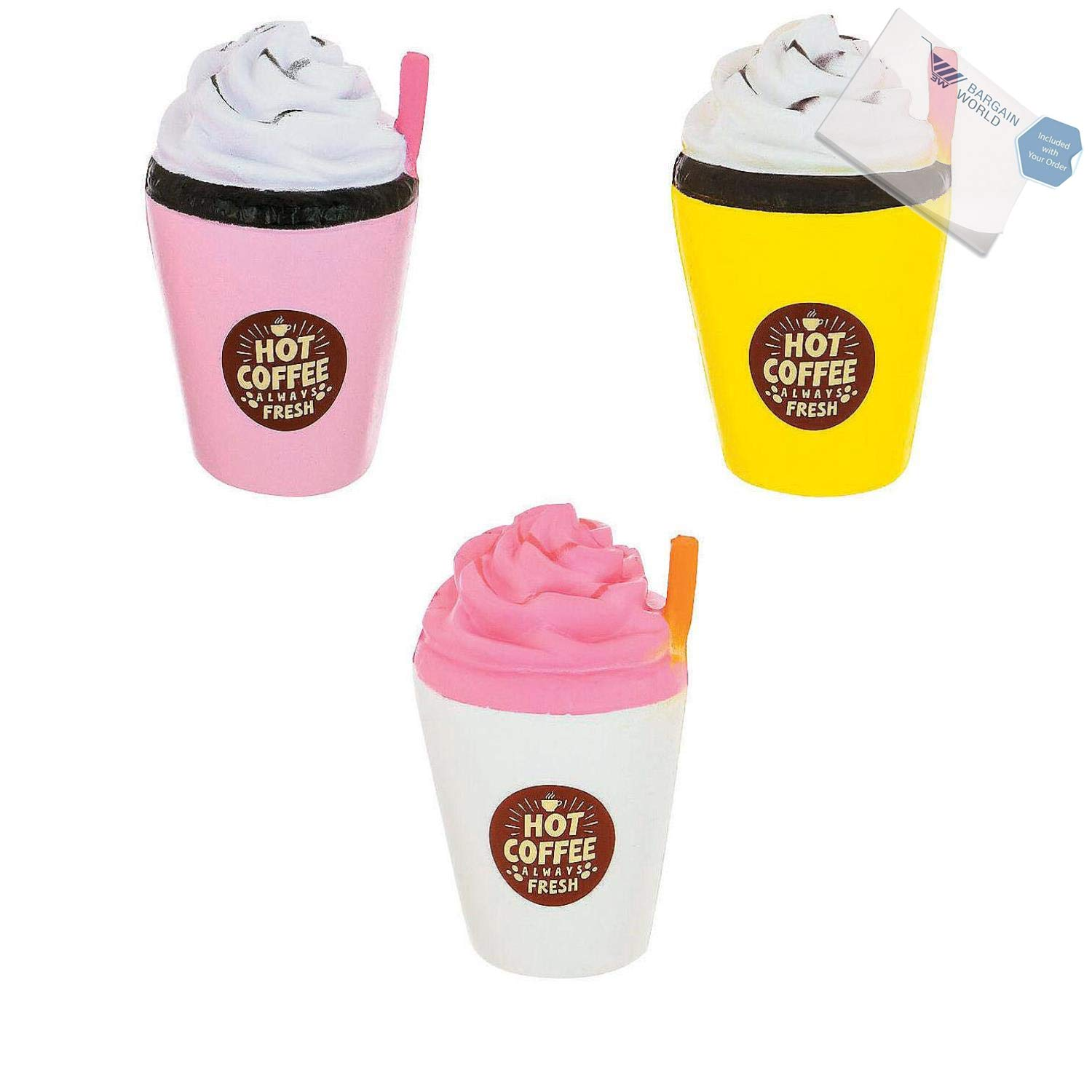 Bargain World Slow-Rising Frappuccino Scented Squishy (With Sticky Notes)