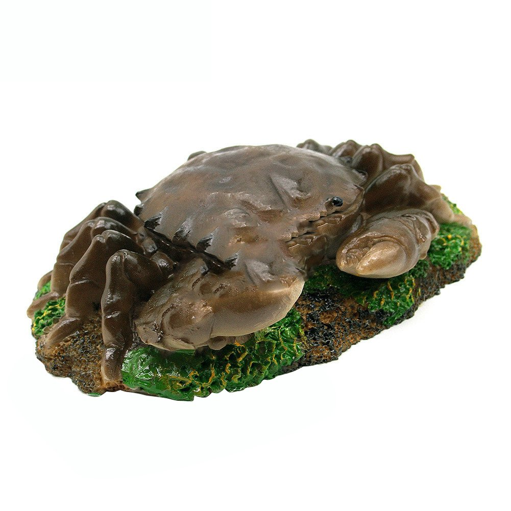 wintefei Aquarium fish tank landscaping resin crafts Simulation animal ornaments Pneumatic products can be connected to the oxygen pump big crab-grey