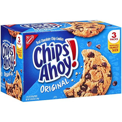 Chips Ahoy! Original Chocolate Chip Cookies - Family Size Bulk Pack with 3 Resealable Packages, 54.6 Ounce