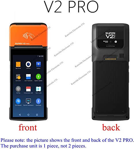 Amazon.com: Sunmi V2 Pro 4G Android Terminal de POS de mano ...