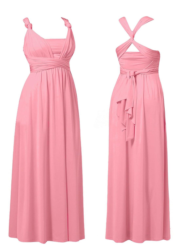 NEW WOMENS DEBUT DEBENHAMS MULTIWAY MAXI DRESS EVENING PROM ...