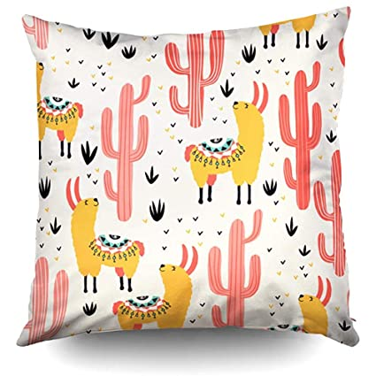 Amazon.com: XMas Yellow Red Cacti Pattern Lovely in ...