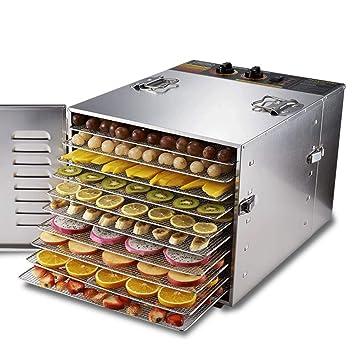 Deshidratador de alimentos, Secador de frutas eléctrico multifuncional para el hogar Temperatura ajustable y sincronización Para la conservación de ...