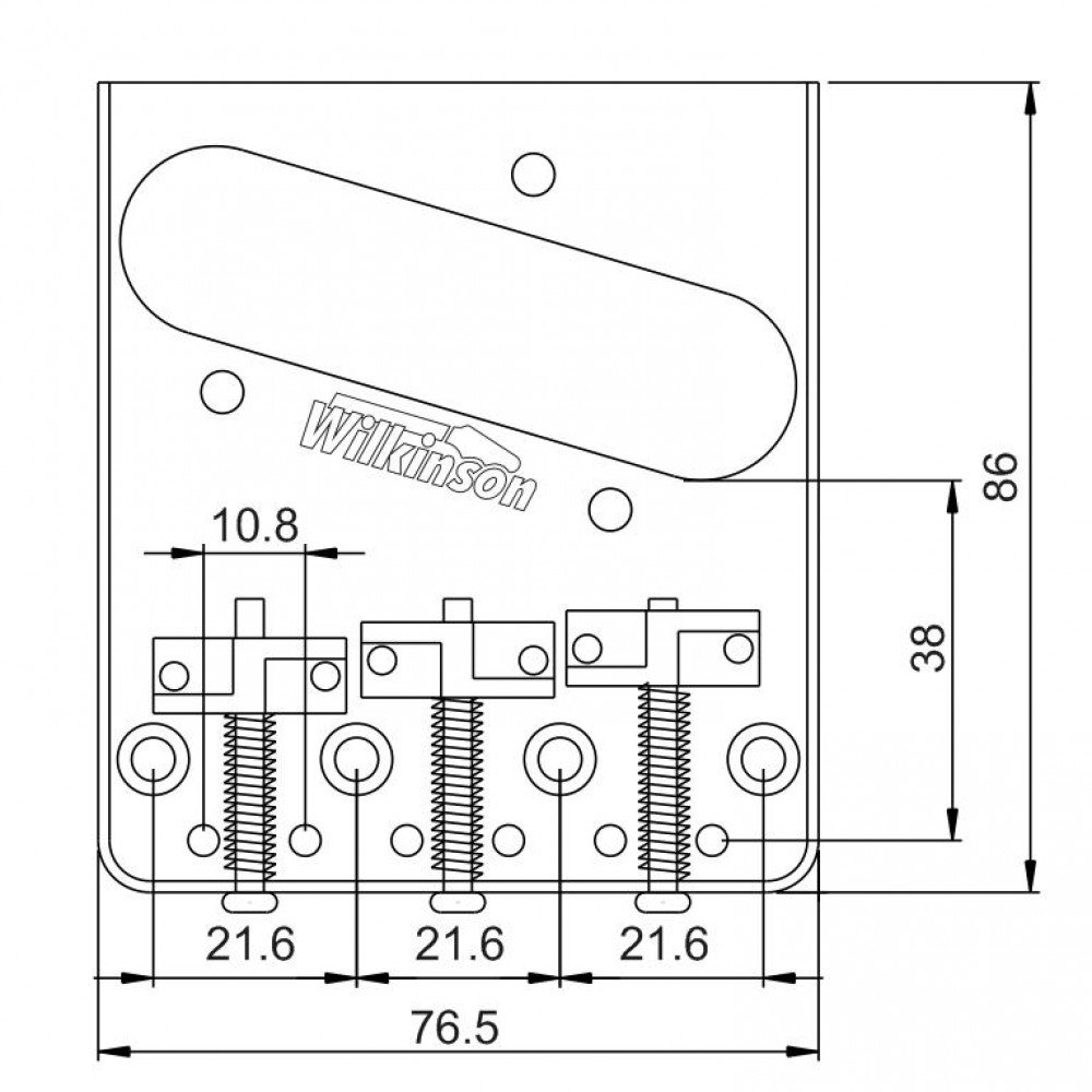 New Wilkinson Chrome Wtb Ashtray Bridge For Tele Guitars Aliexpresscom Buy Free Shipping Covered Vintage With Brass Saddles Musical Instruments