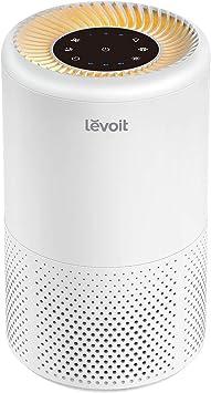 Levoit Purificador de Aire Portátil con Filtro HEPA para Hogar y Oficina, Hasta 20 m2, Temporizador, Luz Nocturna, Libre de Ozono, 3 Velocidades, para Alergia, Tabaco, Caspa de Mascotas, Vista 200: Amazon.es: