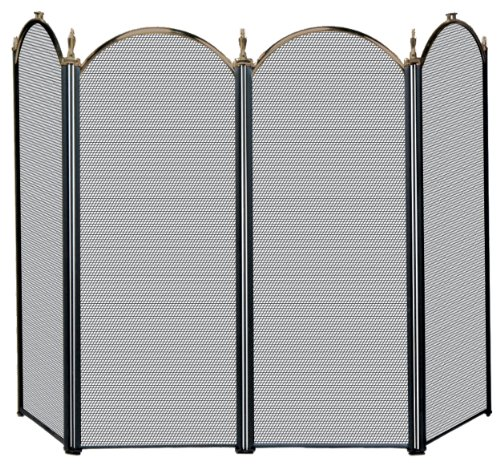 (Uniflame 4 Fold Antique Brass Screen)