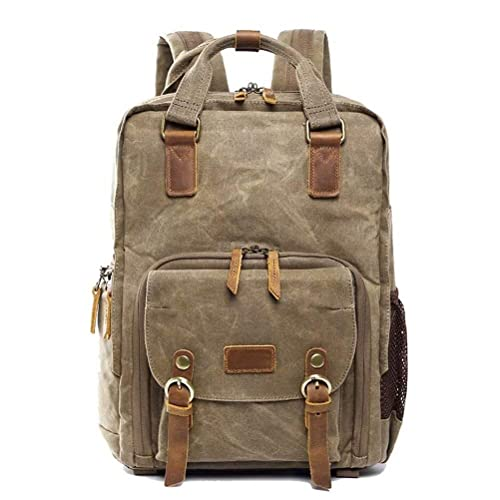 Dreneco Bolso Para Cámara, Unisex Casual Vintage Canvas Backpack ...