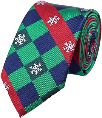 Leisial™ Hombres Corbatas de Navidad para Camisa Traje Corbata Estrecha Regalo de Boda Fiesta Accesorios Vestir