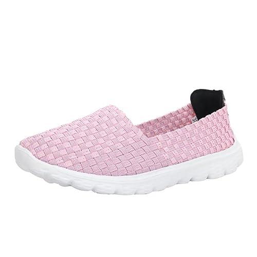 Zapatillas de Deporte Elástico Lona para Mujer Otoño 2018 Zapatos de Plano de Dama PAOLIAN Senderismo Casual Náuticos Cómodo Talla Grande Calzado de Señora ...
